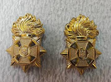 Эмблема, петлица НГУ пластик золото нового образца