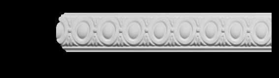 Молдинг для стен с орнаментом Classic Home 3-0450, лепной декор из полиуретана