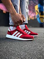 Кроссовки Adidas Iniki Red (Адидас Иники красные), фото 1