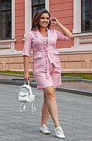 Летний костюм с шортами в полоску, с 42-52 размер, фото 1