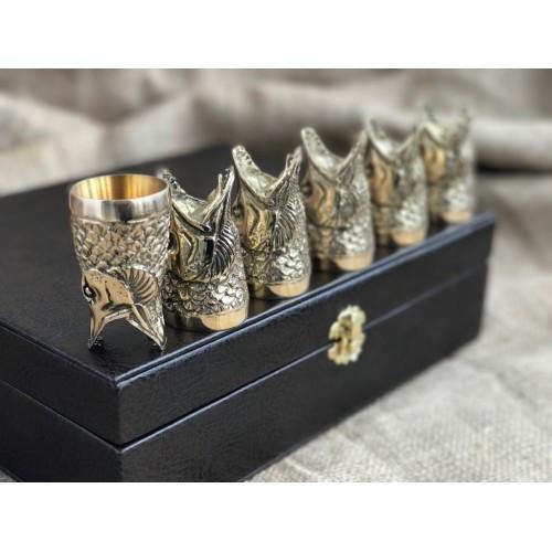 Набор бронзовых чарок Царский улов