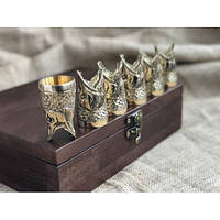 Набор бронзовых чарок Царский улов, фото 1