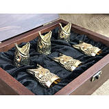 Набор бронзовых чарок Царский улов, фото 3