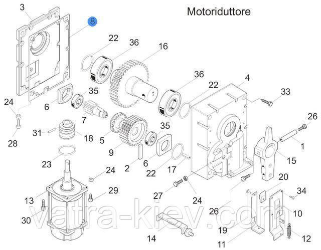 прокладка двигателя шлагбаума Came gard 119GF961 купить цена