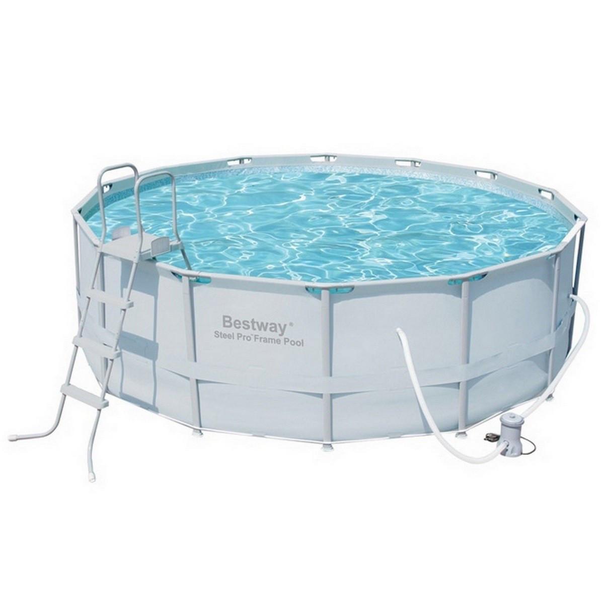 Каркасний круглий басейн Bestway 56444/56263 (427х122) з картриджних фільтрів