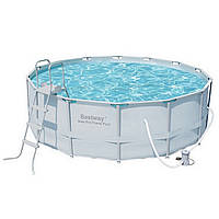 Каркасний круглий басейн Bestway 56444/56263 (427х122) з картриджних фільтрів, фото 1