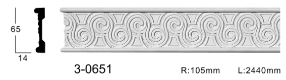 Молдинг для стен с орнаментом Classic Home 3-0651, лепной декор из полиуретана