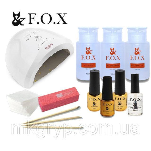 Стартовый набор для покрытия гель лаком F.O.X с лампой SUN 1 мощностью 48 W № 1