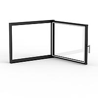 Дверца стальная для камина 700×530 мм серийная
