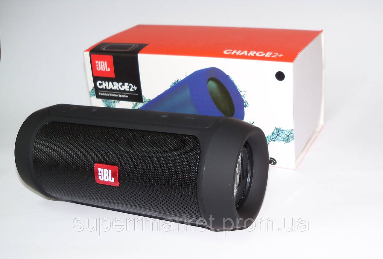JBL Charge2+, беспроводная колонка с FM Bluetooth MP3 USB microSD Powerbank, black