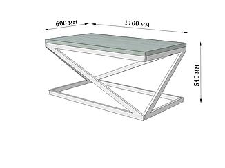 Стол журнальный Лонг Бент от Металл Дизайн с доставкой