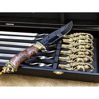 Набор шампуров Лев  с ножом в кейсе, фото 1