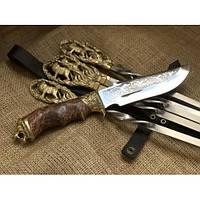 Набор шампуров  Лев с ножом, фото 1