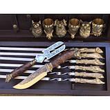 Охотничий трофей Эксклюзивный набор для шашлыка.Шампура+рюмки+нож+вилка, фото 2