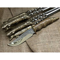 Набор шампуров  Царский улов с ножом, фото 1