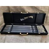 Набор шампуров Охотничий трофей  с ножом в кейсе, фото 4