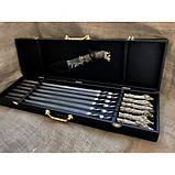 Набор шампуров Охотничий трофей  с ножом в кейсе, фото 5