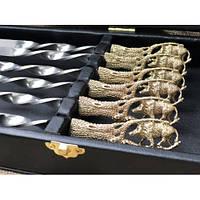 Набор шампуров Дикий кабан в кейсе, фото 1
