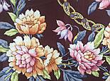 Улыбка принцессы 1596-16, павлопосадский платок (крепдешин) шелковый с подрубкой, фото 4