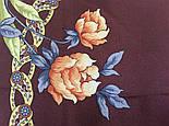 Улыбка принцессы 1596-16, павлопосадский платок (крепдешин) шелковый с подрубкой, фото 7