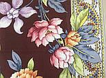 Улыбка принцессы 1596-16, павлопосадский платок (крепдешин) шелковый с подрубкой, фото 6