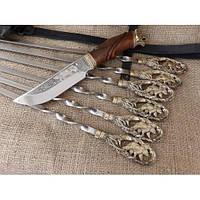 Набор шампуров «Медведь» с ножом, фото 1