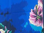 Коварство и любовь 1495-14, павлопосадский платок (крепдешин) шелковый с подрубкой, фото 4