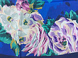 Коварство и любовь 1495-14, павлопосадский платок (крепдешин) шелковый с подрубкой, фото 5