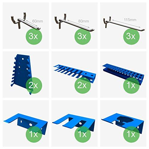Набор креплений и крючков для перфорированной панели для СТО гаража склада мастерской
