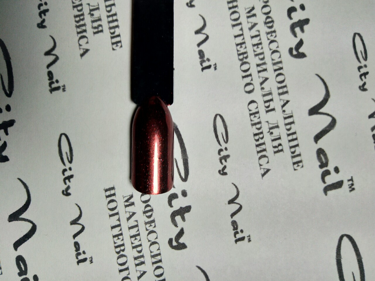 Зеркальная втирка для дизайна ногтей красная