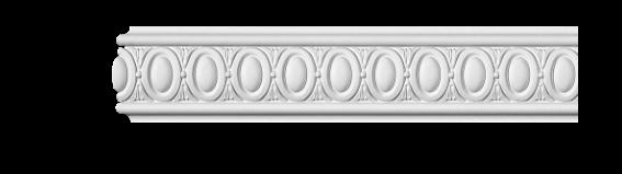 Молдинг для стен с орнаментом Classic Home 3-0750, лепной декор из полиуретана