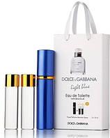 Мужские духи Dolce & Gabbana Light Blue Pour Homme с феромонами 45ml (3 по 15)