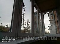 Остекление балкона в хрущевке Киев ул. Ивана Кудри 35 - бригада №14