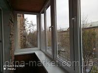 Остекление балконов в хрущевке Киев на ул. Ивана Кудри 35 - монтажная бригада №14
