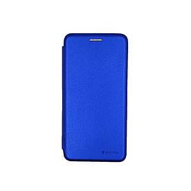 Чехол книжка для Huawei Y5 2019 боковой с отсеком для визиток, G-Case, Синий