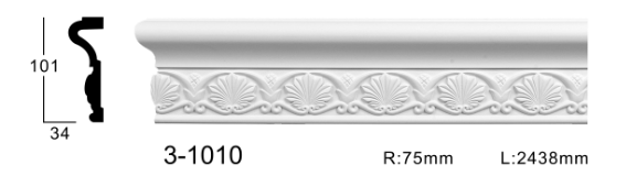 Молдинг для стен с орнаментом Classic Home 3-1010, лепной декор из полиуретана