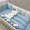 """Комплект в кроватку из серии ART Design """"It's a Boy"""" бело-голубого цвета"""