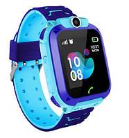 S12 детские умные часы с GPS (blue) - Защита IP67