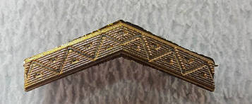 Лычка узкая нового образца пластик золото