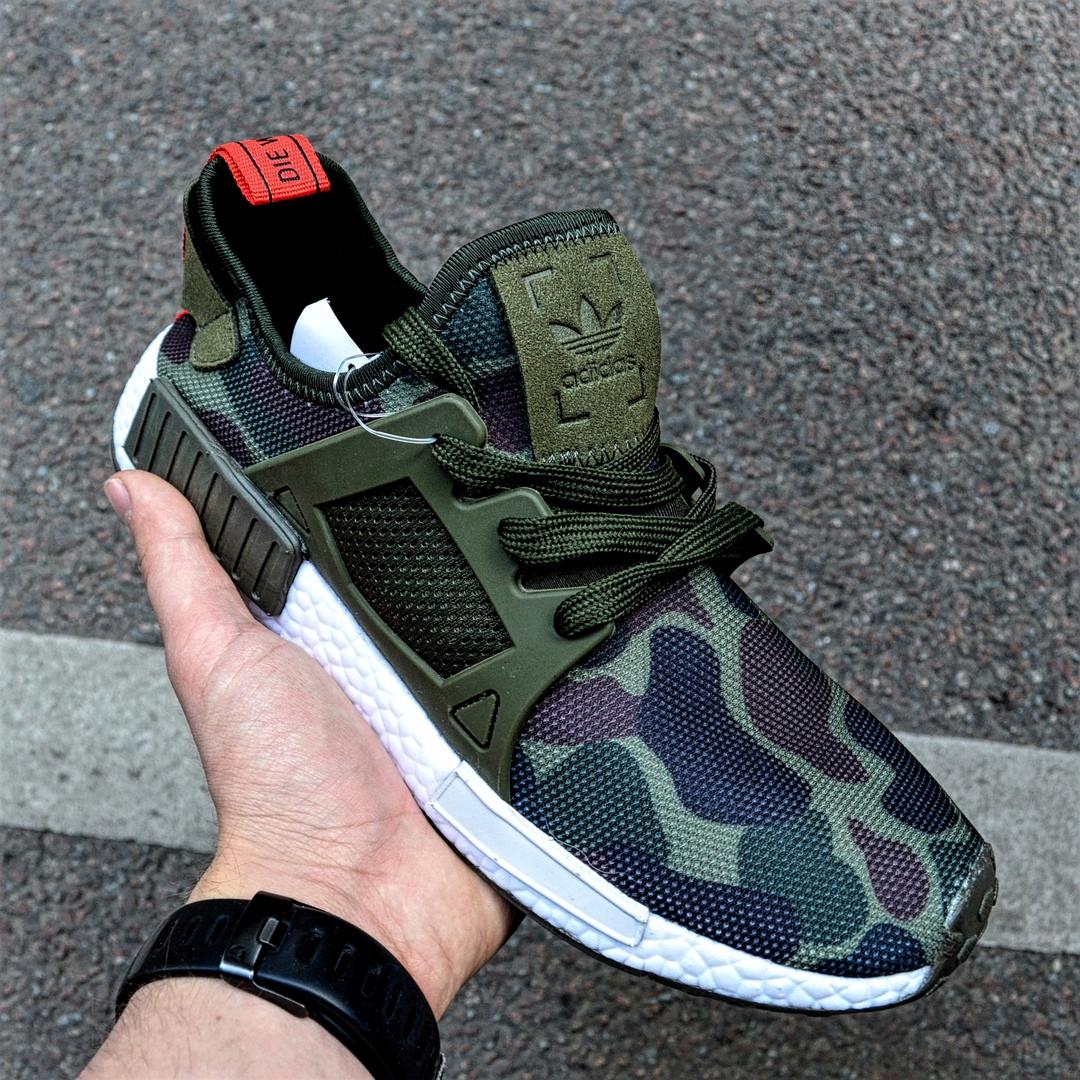 Мужские кроссовки Adidas NMD RX1 CAMO. Живое фото (Реплика ААА+)