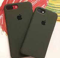 Силиконовый чехол Apple Silicone Case Dark Olive  iPhone 6/6s Soft touch Люкс качество чехлы на айфон