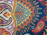 10476-14, павлопосадский платок из вискозы с подрубкой, фото 5