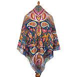 10476-14, павлопосадский платок из вискозы с подрубкой, фото 3