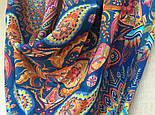 10476-14, павлопосадский платок из вискозы с подрубкой, фото 7