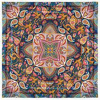 10476-14, павлопосадский платок из вискозы с подрубкой, фото 1