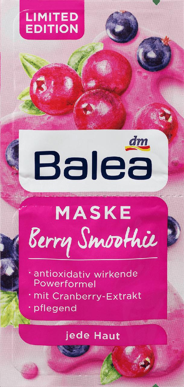 Маска для лица Balea BerrySmoothie, 2st. х 8 ml.