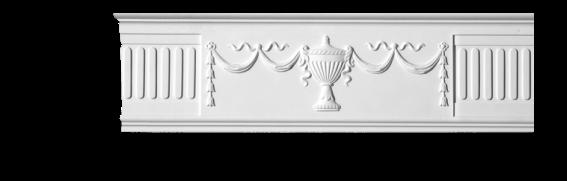 Молдинг для стен с орнаментом Classic Home 3-1923, лепной декор из полиуретана