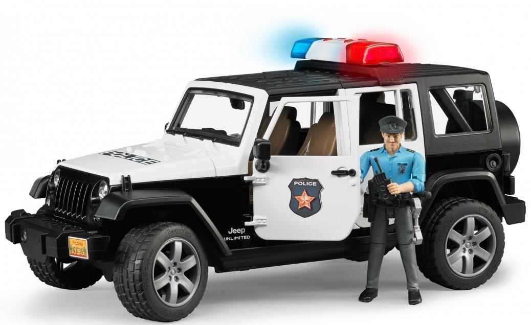 Машинка джип Bruder Wrangler Unlimited Rubicon Police с фигуркой полицейского М1:16 (02526)