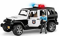 Машинка джип Bruder Wrangler Unlimited Rubicon Police с фигуркой полицейского М1:16 (02526) , фото 1