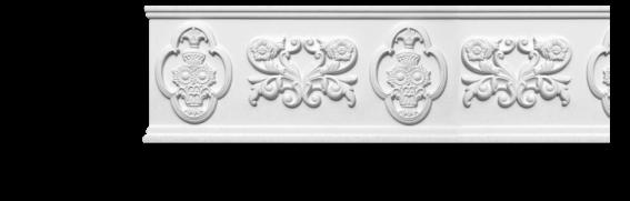 Молдинг для стен с орнаментом Classic Home 3-1990, лепной декор из полиуретана